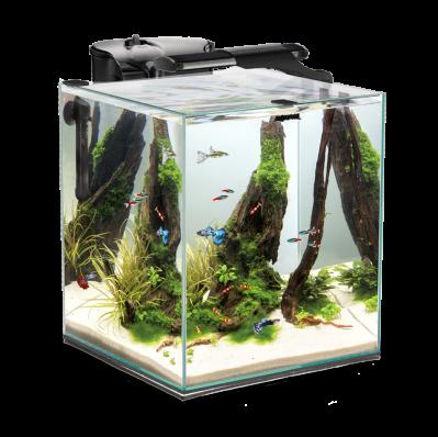 Aquael Fish&Shrimp set duo (49 литров) черный креветкариум свет led фильтр нагреватель